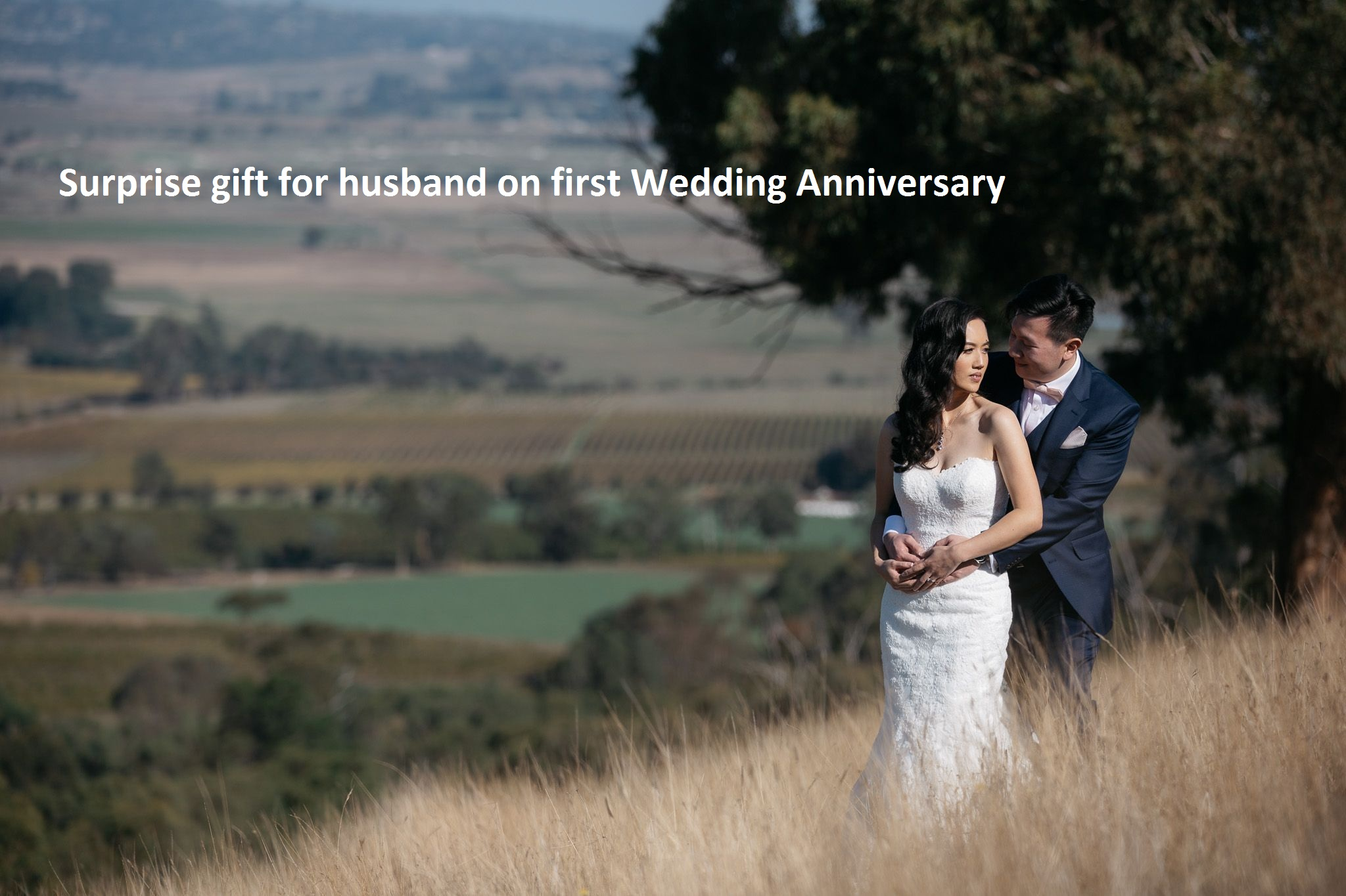 surprise gift for husband on first wedding anniversary
